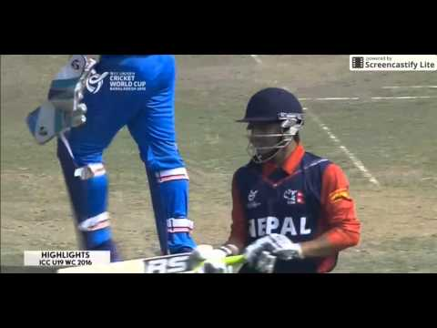 ICC U 19 World Cup 2016 India vs Nepal Highlights  India crush Nepal to top group  Ind vs Nep