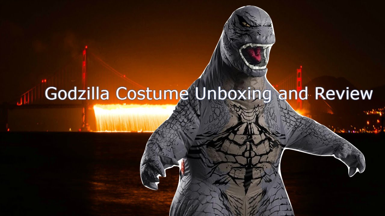 Inflatable Godzilla Costume Unboxing and Review - YouTube