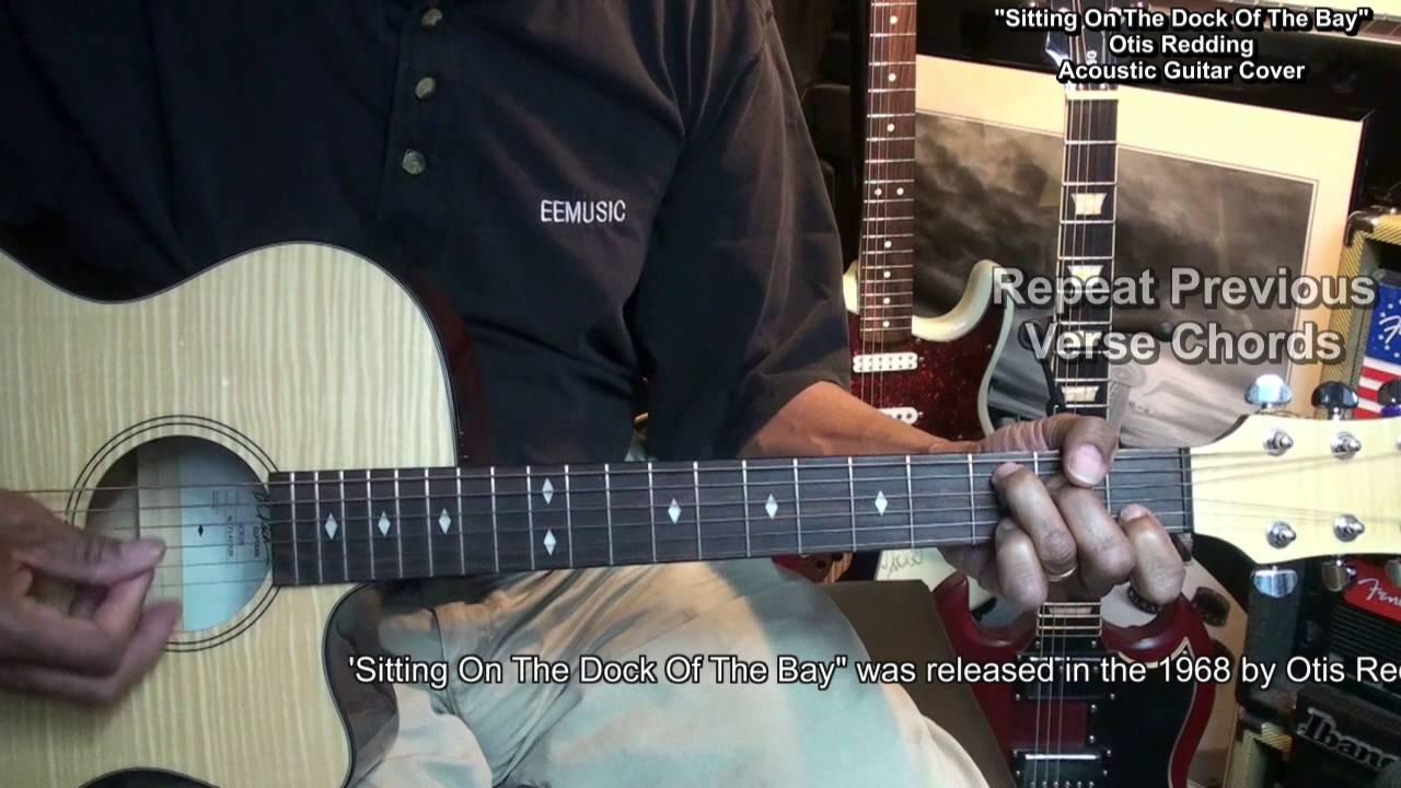Sitting On The Dock Of The Bay Otis Redding Easy Chord Guitar Cover