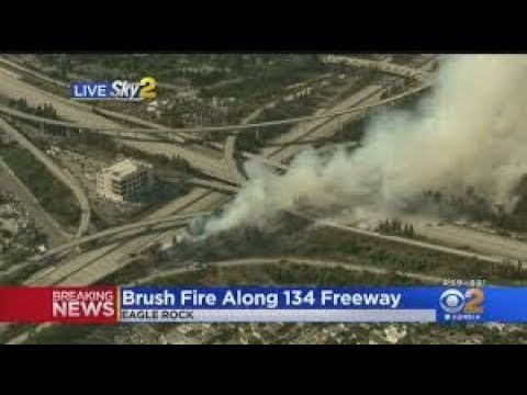 30-Acre Brush Fire Threatened Homes In Eagle Rock