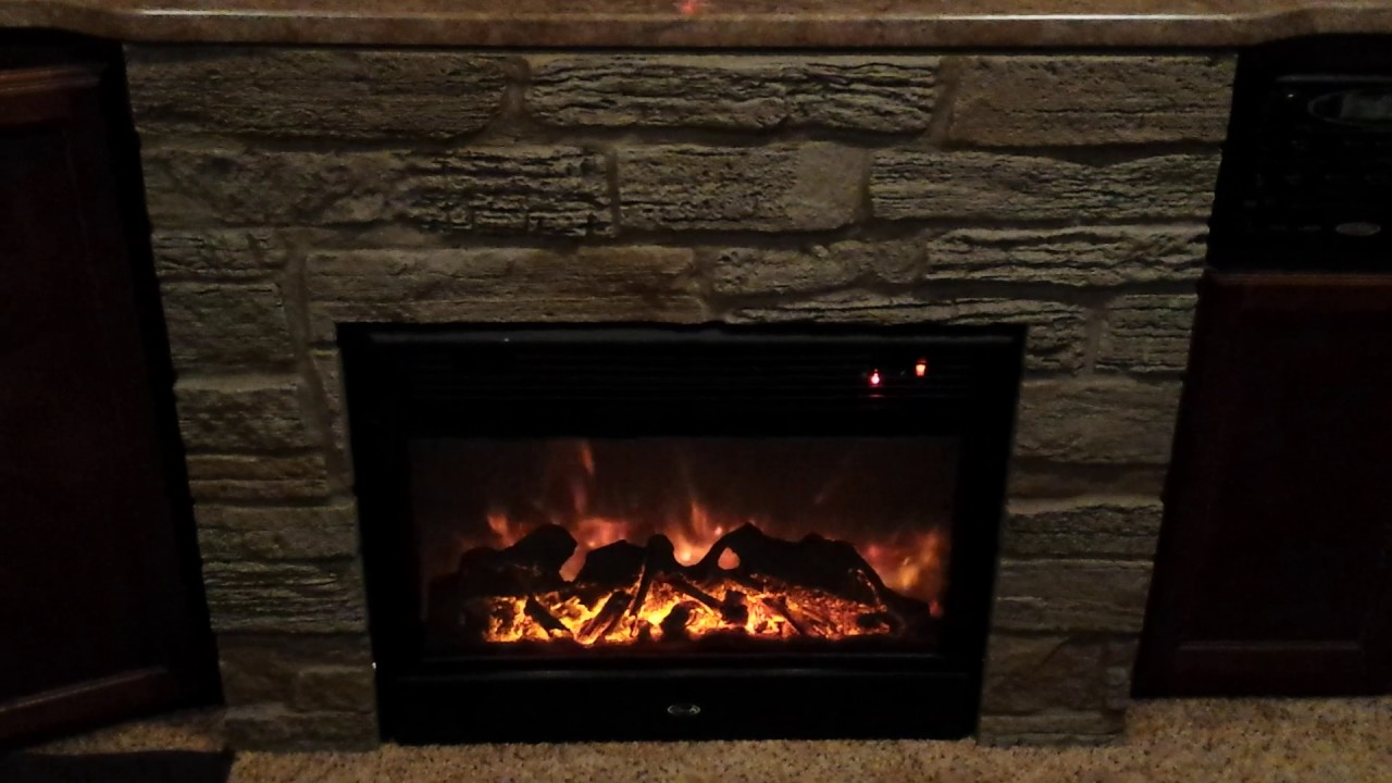 first rv fireplace use youtube