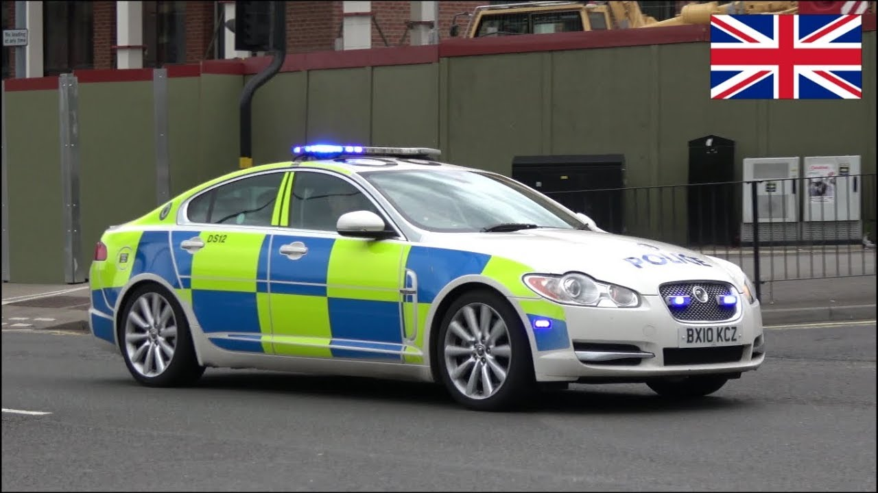 Jaguar U0026 BMW Police Car Chase Training On Siren And Lights
