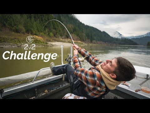 CATCHING LARGEST FISH in North America ( 2 vs 2 CHALLENGE )