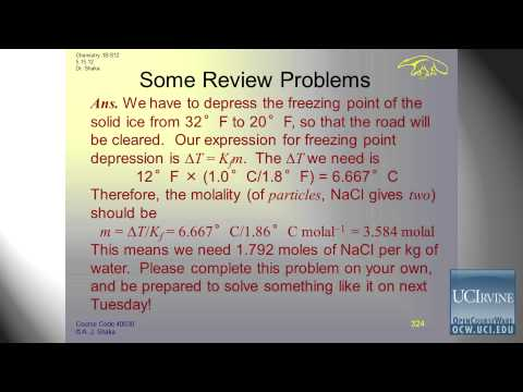 "General Chemistry: Lec. 13. ""Clean Natural Gases"" & More Review Problems"