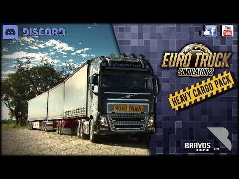 🔴► AO VIVO Euro Truck Simulator 2 # 109 heavy cargo pack