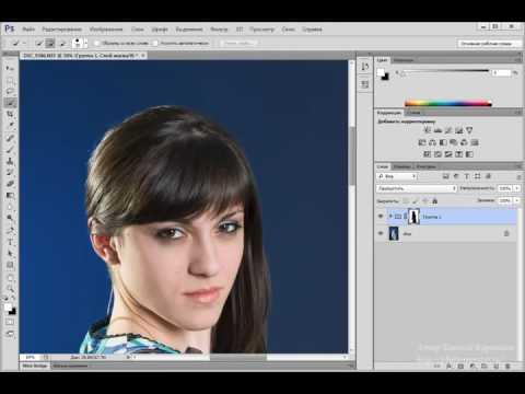 Photoshop. Выравнивание фона на студийной Фотографии. (Евгений Карташов)