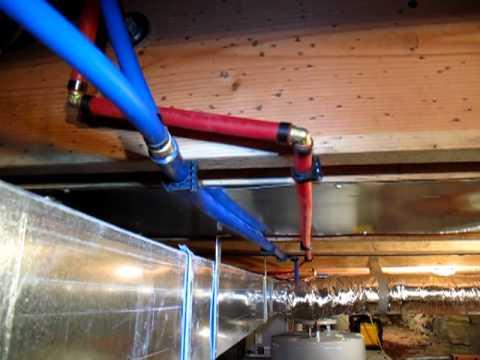Plumbing in the waterheater