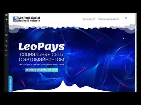 Заработок в интернете. Социальная есть LeoPays. Автомайнинг.