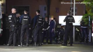 Berlin-Wedding: Polizei kontrolliert Rocker von Guerilla Nation