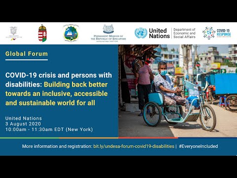 Global Forum On The COVID-19 Crisis And Persons With Disabilities