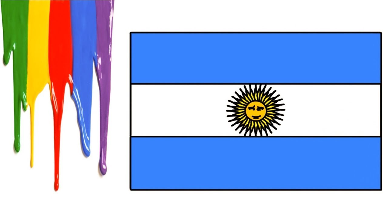Argentina Flag How To Draw Easy For Kids