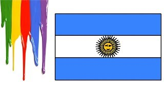 Argentina Flag How to Draw Easy for Kids || Little Channel || Argentina Flag Coloring Step by Step