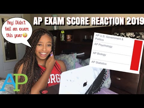 AP EXAM SCORE REACTION 2019  AP BIO, AP GOV, AP STAT, & AP PSYCH #apexam #apexamscores #apscores2019