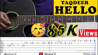 "Download Lagu LEARN IN 1 MIN*Hello* ""Akhil"" On Guitar😍( TAQDEER ) Guitar Tab Sheets mp3"