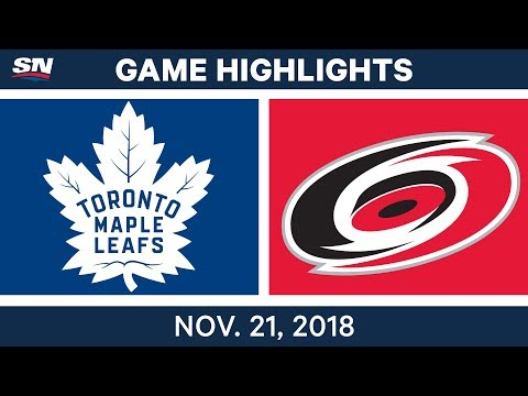 NHL Highlights | Maple Leafs vs. Hurricanes – Nov. 21, 2018