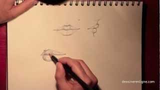 Vos premiers pas pour apprendre à dessiner un visage : la bouche - Dessinerenligne.com