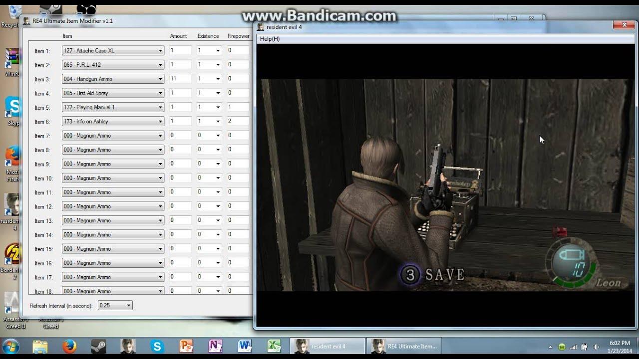 Resident evil 4 item modifier weapons hack xsonarbling.