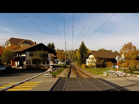 Part 2 - Lötschberg Mountain Route - Driver's Eye View – Spiez to Bern