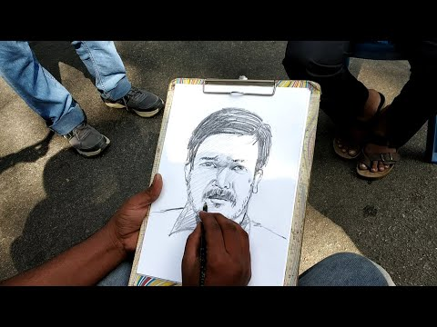 Live Portrait Chitrakala Parishath Bangalore Karnataka In India