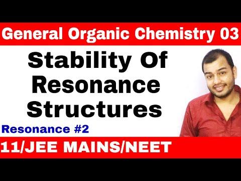 Organic Chemistry    GOC 03    Resonance 02 : Stability of Resonance Structures JEE MAINS/NEET