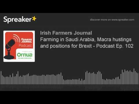 Farming in Saudi Arabia, Macra hustings and positions for Brexit - Podcast Ep. 102