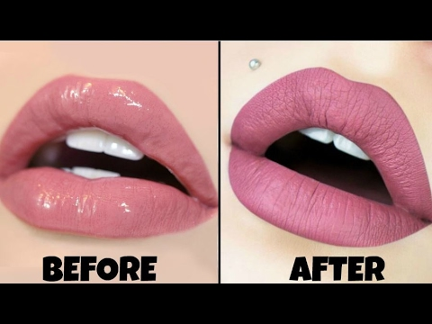 Easiest way to make any Lipstick Matte | DIY - Only 2 products | 2017