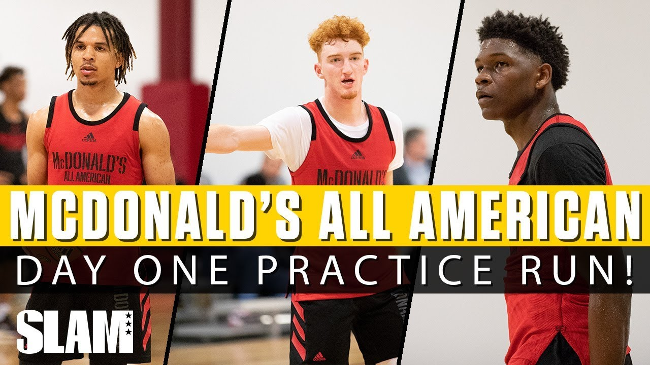 1329917263d Nico Mannion   Cole Anthony SHOW OUT in First McDonald s All American  Practice‼ 🍔