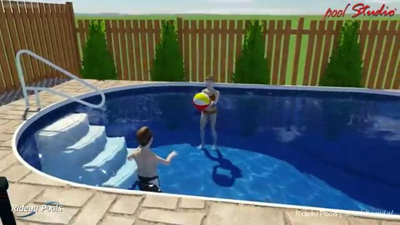 12 X 22 Semi Inground Pool By Rideau Pools Ottawa Youtube