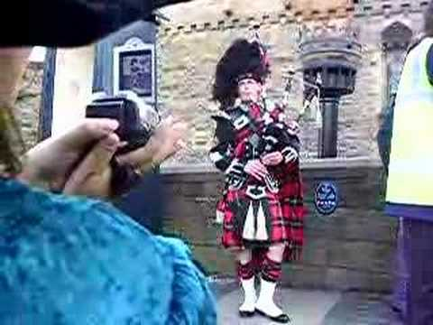 Bagpipes at Edinburgh Castle, Scotland