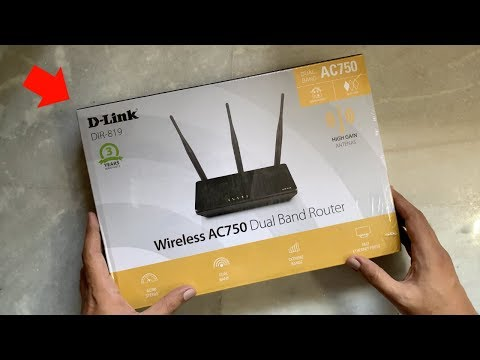 D-Link DIR-819 Wireless AC750 Dual Band Router Unboxing