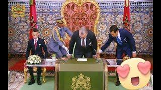لقطة معبرة ❤️ من الأمير مولاي رشيد تجاه أخيه جلالة الملك محمد السادس ...رائع❤️😍