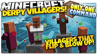 Minecraft | DERPY VILLAGERS | EXPLODING MOBS! | Only One Command (Minecraft Vanilla Mod)