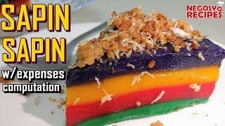 How to Cook Sapin Sapin for Food Business w/ Expenses Computation   Kakanin Recipe Sapin-sapin