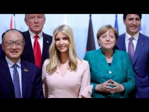 Ivanka Trump takes her father's seat at world leaders' table during a G 20 meeting
