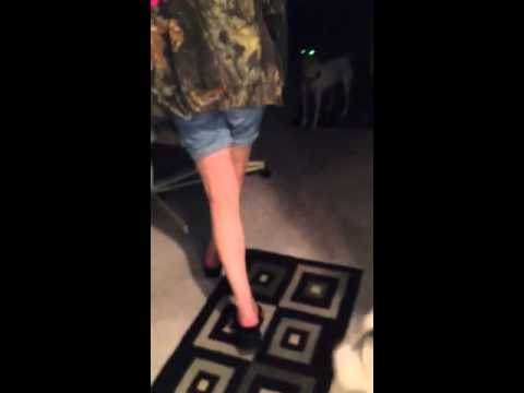 Drunk girl pees herself