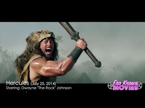 "Hercules Starring Dwayne ""The Rock"" Johnson - Movie Trailer Preview Review"
