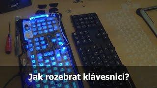 Rozebírání a čištění klávesnice Saitek Eclipse II