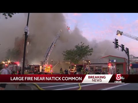 3 Firefighters Hurt In 8-alarm Natick Fire