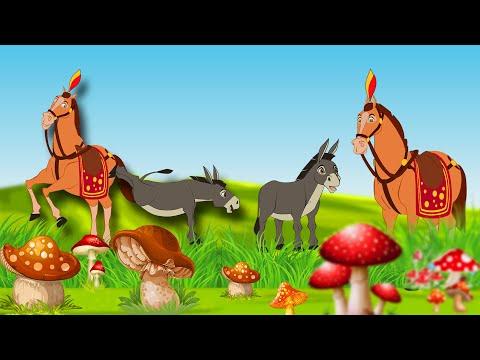 குதிரை - கழுதை  -  Proud Donkey | Tamil Stories for kids | Tamil Fairy Tales | Tamil Moral Stories