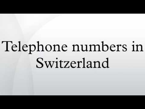 Telephone numbers in Switzerland