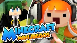 ¡¡Adelante Panteras purpuras!! - Minecraft minijuegos (Sploop/Splatoon) con @Naishys