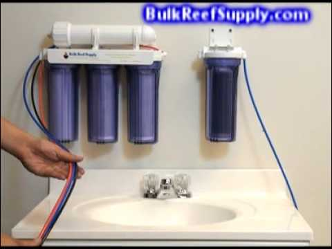 5 Stage Reverse Osmosis System Instructions Bulk Reef Supply Youtube