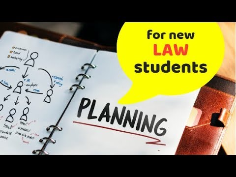 New LAW students should PLAN like this..!!
