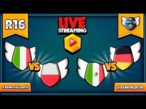 BS WORLD CUP - 1/8 FINAŁU - POLSKA VS WŁOCHY - NIEMCY VS MEKSYK - MISTRZOSTWA ŚWIATA W BRAWL STARS