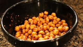 Easy Bodybuilding Snack:  Crispy Oven-roasted Chickpeas