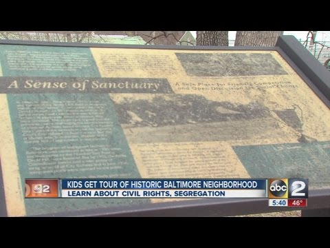 Maryland kids tour historic Baltimore neighborhoods, learn about civil rights