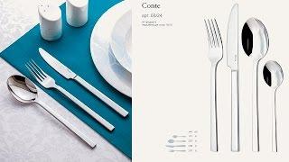 Обзор столовых приборов Gottis Conte (24 предмета / 6 персон)