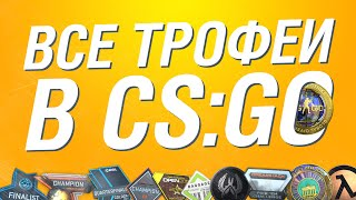 Все трофеи в CS:GO. Редкие медали, коллекции значков и пинов