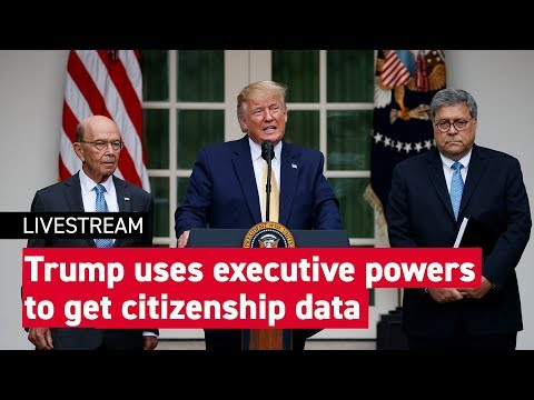 Trump talks to press about dropping the citizenship question