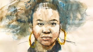 Download lagu Portrait #90 - Simple Steps to Find the Face Proportions with Watercolor